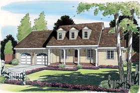 Cape Cod Country Ranch House Plan 24719 Elevation