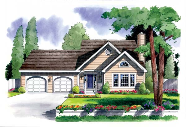 Ranch Traditional House Plan 24720 Elevation