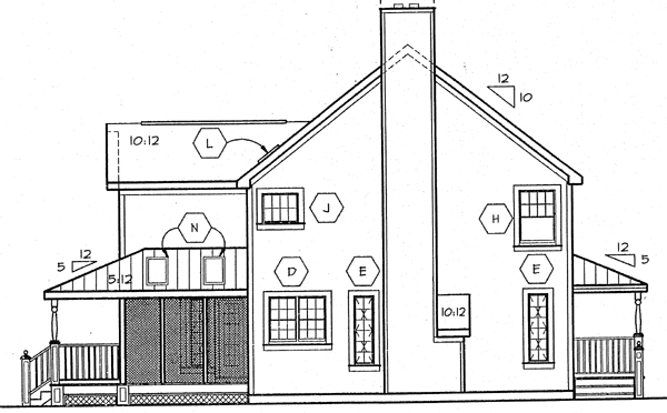 Country Farmhouse Traditional House Plan 24724 Rear Elevation