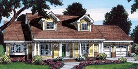 Cape Cod Country Traditional House Plan 24726 Elevation
