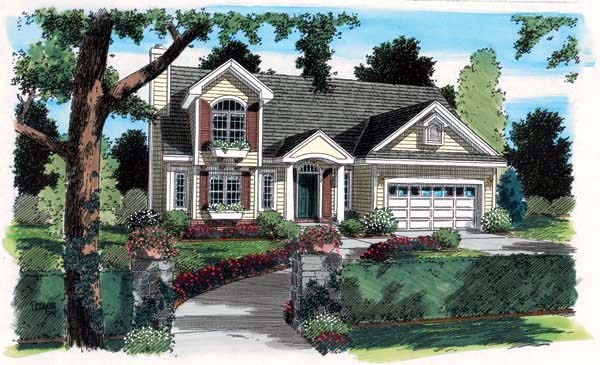 Country European Traditional House Plan 24728 Elevation