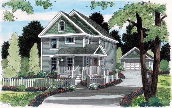 Bungalow Country House Plan 24729 Elevation