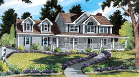 Country Farmhouse Southern House Plan 24733 Elevation