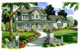 Bungalow Country Farmhouse Southern House Plan 24735 Elevation
