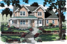 House Plan 24737 | Country Farmhouse Southern Style Plan with 2226 Sq Ft, 4 Bedrooms, 3 Bathrooms, 2 Car Garage Elevation