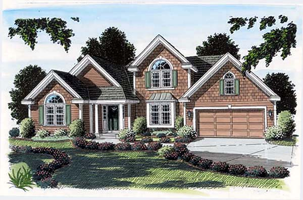 Bungalow European Traditional House Plan 24739 Elevation