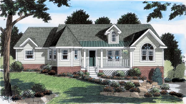 Country Ranch Southern House Plan 24743 Elevation