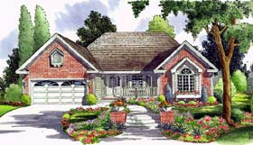 Country , Ranch , Traditional House Plan 24744 with 3 Beds, 2 Baths, 2 Car Garage Elevation