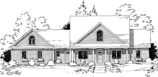 Traditional , Southern , Country House Plan 24746 with 3 Beds, 3 Baths, 2 Car Garage Elevation