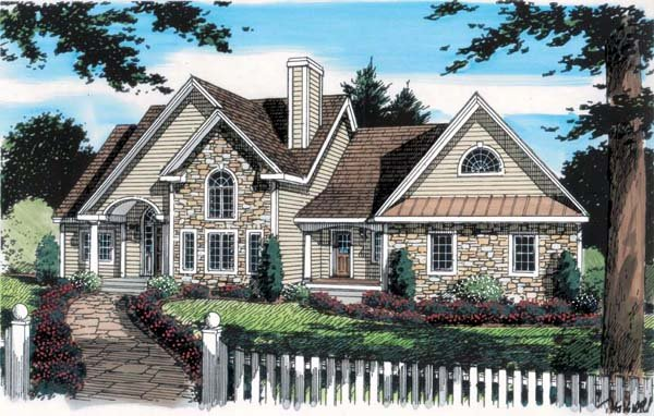 Bungalow Country European Traditional House Plan 24748 Elevation