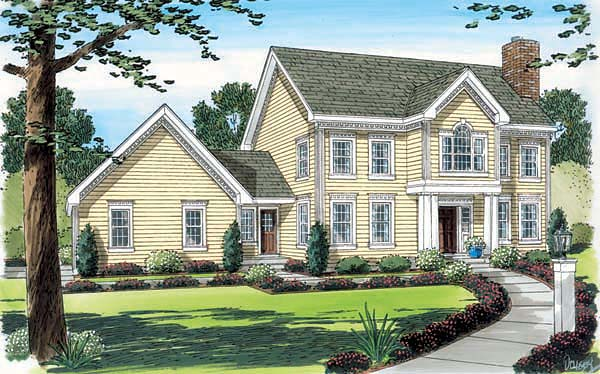 Colonial House Plan 24753 Elevation