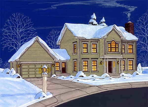 Front Rendering - Winter scene
