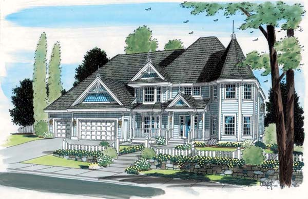 Victorian House Plan 24800 Elevation