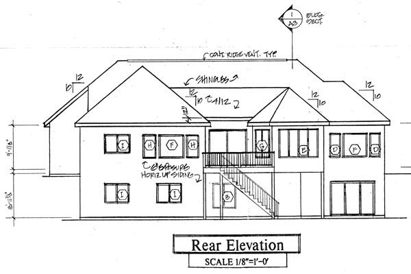 Bungalow Country European Traditional House Plan 24805 Rear Elevation