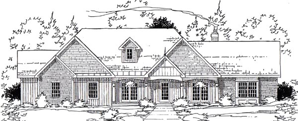 Country European Southern Traditional House Plan 24954 Elevation