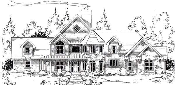 Country European Southern Traditional House Plan 24956 Elevation
