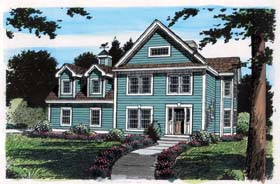 House Plan 24964 | Bungalow Cape Cod Country Traditional Style Plan with 2240 Sq Ft, 3 Bedrooms, 3 Bathrooms, 2 Car Garage Elevation
