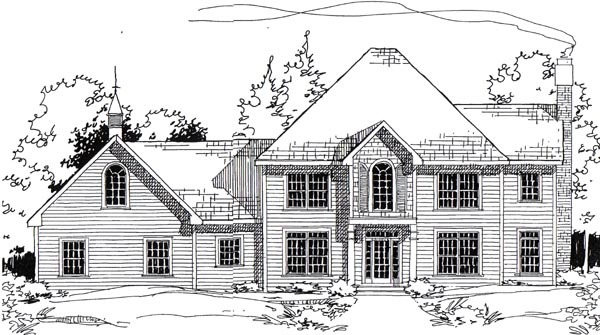 Colonial European Traditional House Plan 24965 Elevation