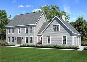 Colonial Country Traditional House Plan 24966 Elevation