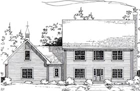 Colonial House Plan 24967 Elevation