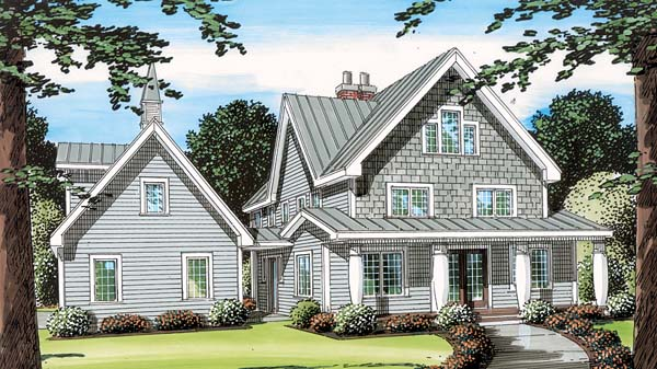 Country Farmhouse Southern House Plan 24968 Elevation