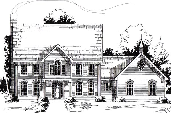 Colonial , Elevation of Plan 24971
