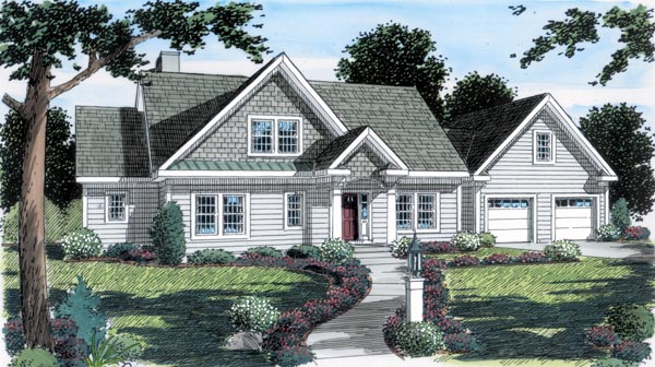 Bungalow Country Traditional House Plan 24989 Elevation