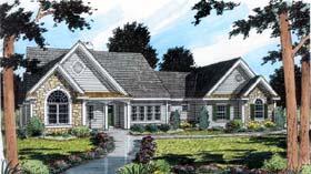 Contemporary , European , Traditional House Plan 24991 with 3 Beds, 3 Baths, 2 Car Garage Elevation