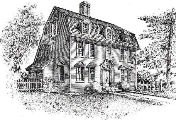 House plan 26850 at for Colonial saltbox house plans