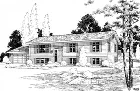 Retro Traditional House Plan 270 Elevation