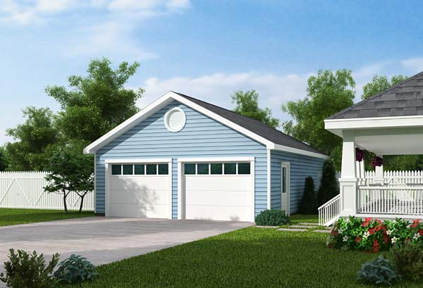 Country Traditional Garage Plan 30000 Elevation