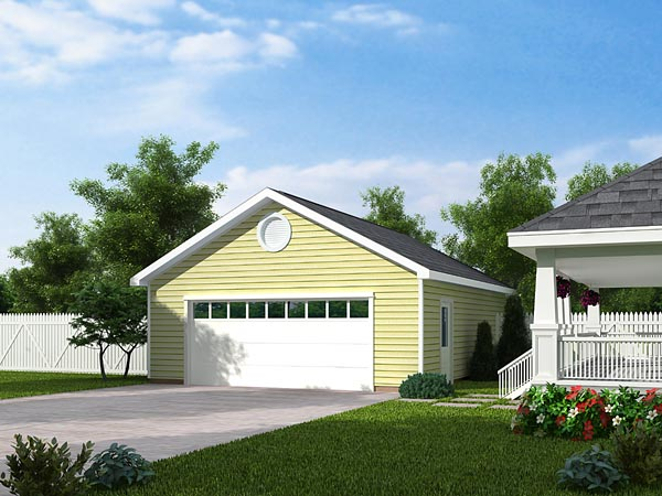 Country Traditional Garage Plan 30001 Elevation
