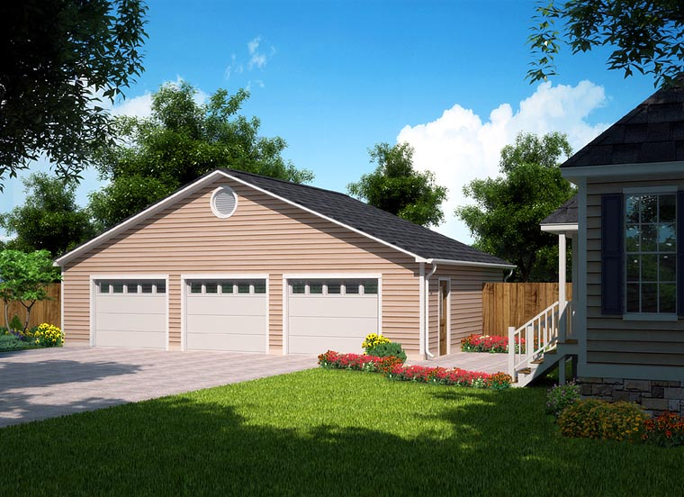 Ranch Traditional Garage Plan 30004 Elevation