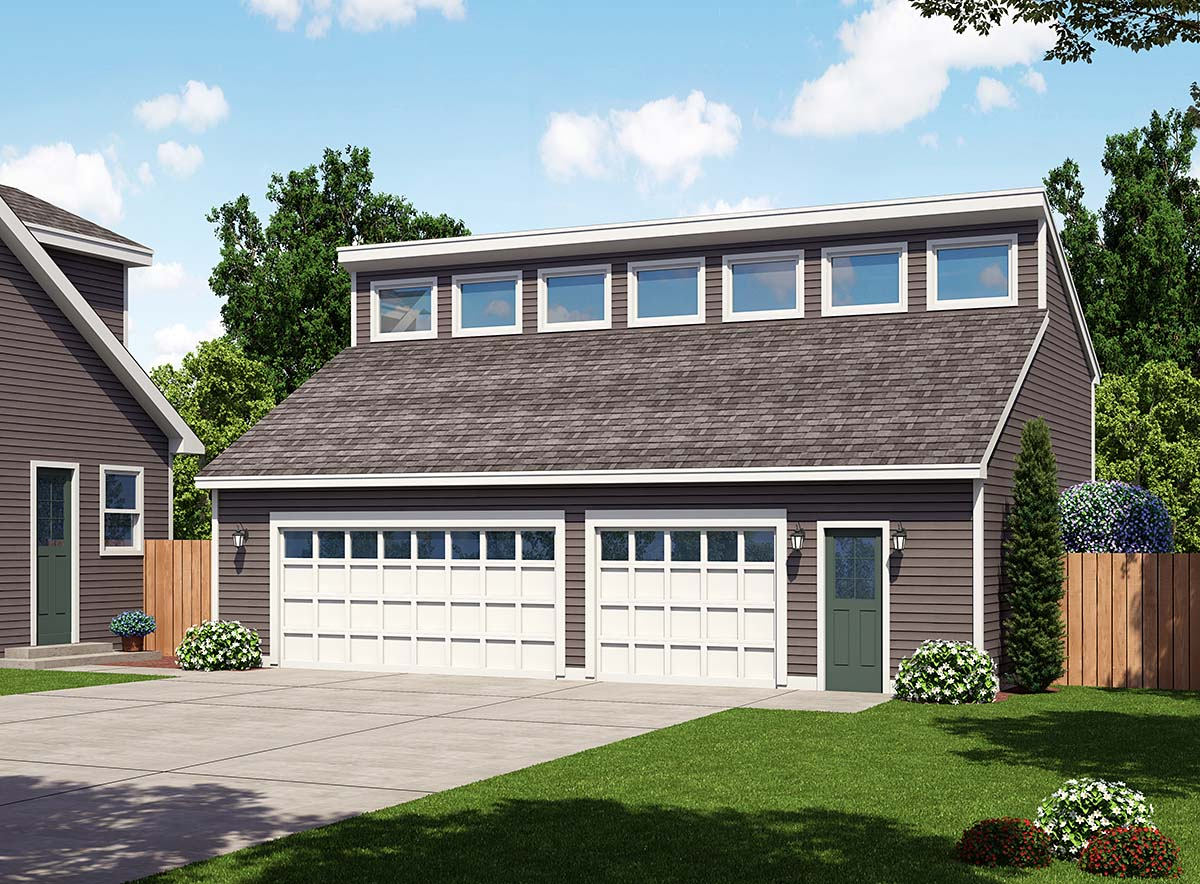 Contemporary Garage Plan 30012 Elevation
