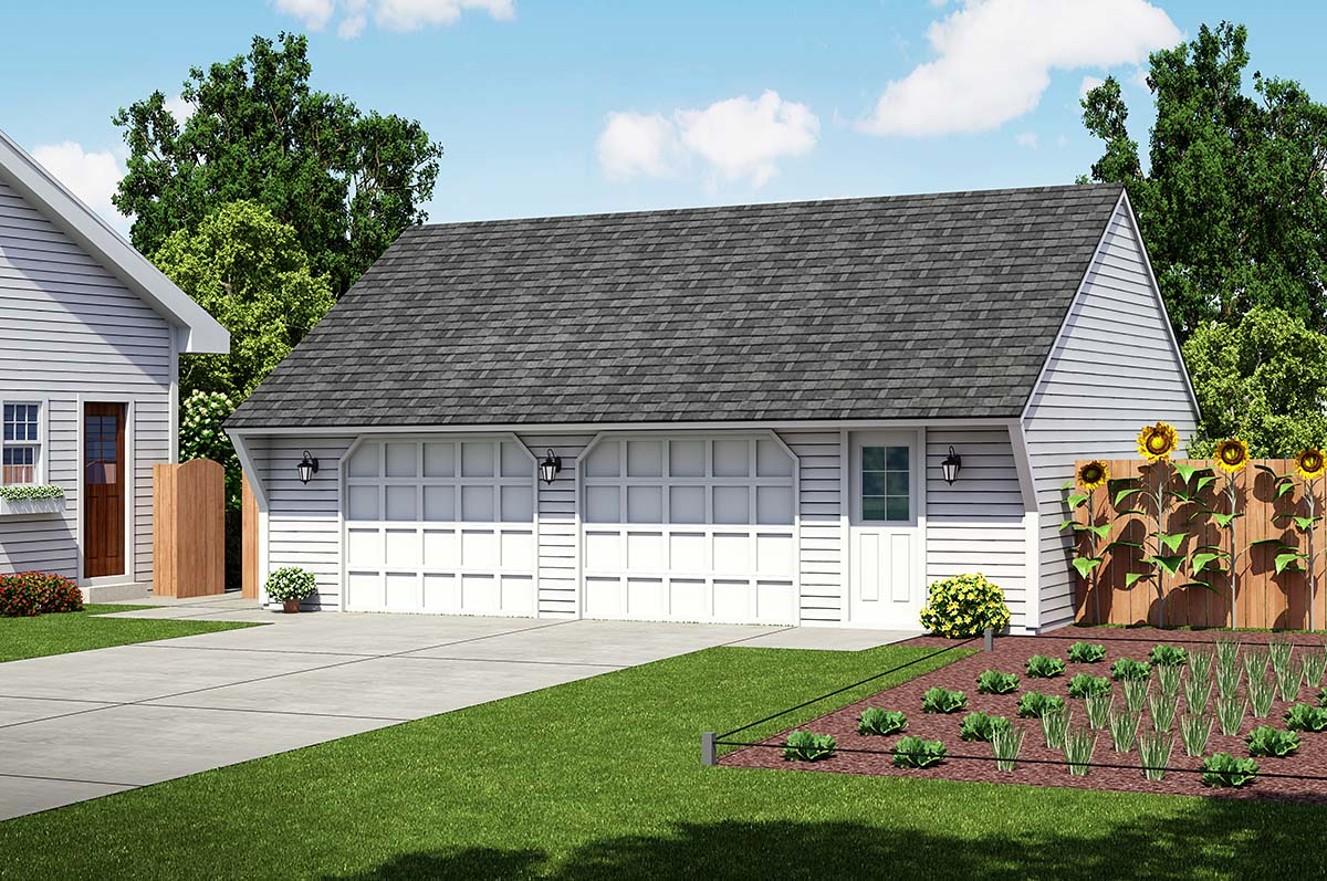 Garage plan 30021 at for Saltbox garage plans
