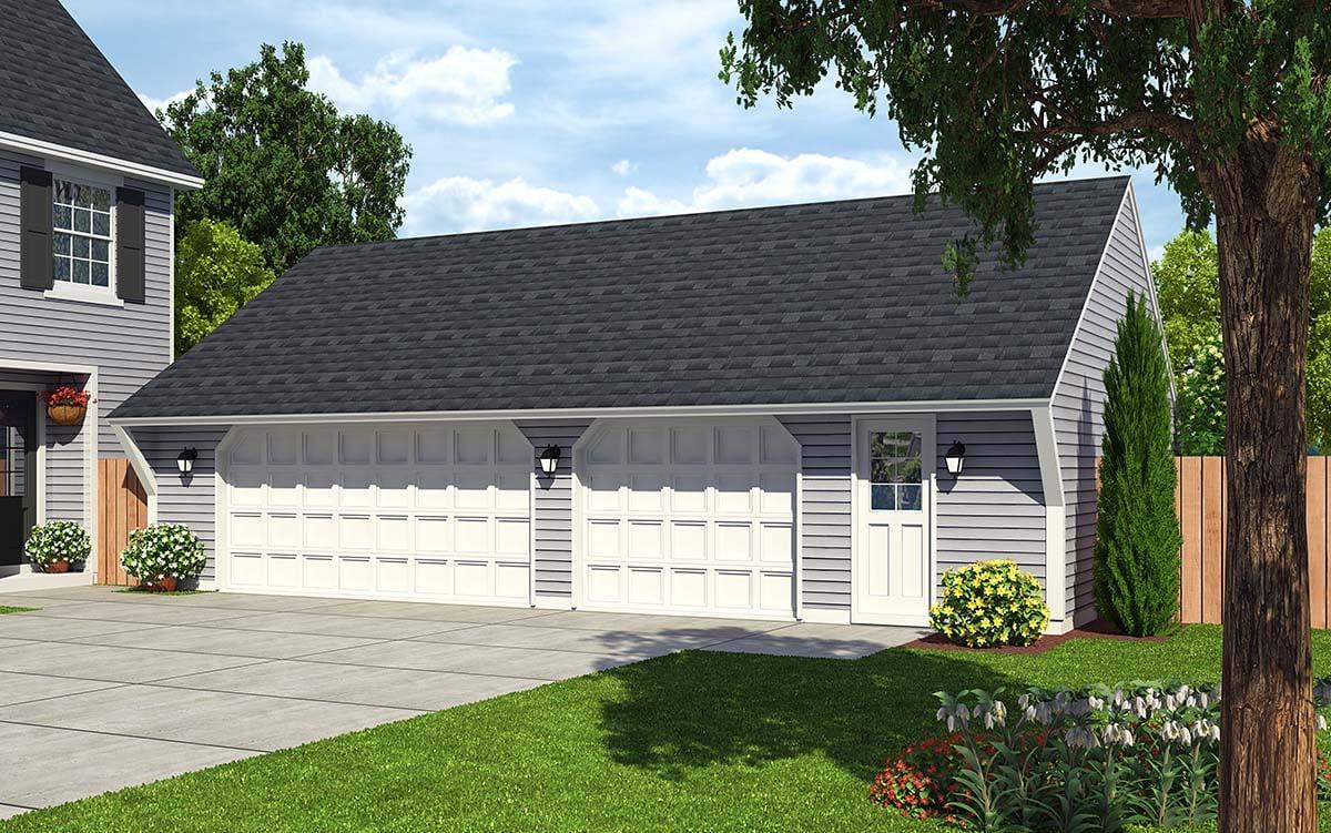 Cape Cod Saltbox Traditional Garage Plan 30022 Elevation