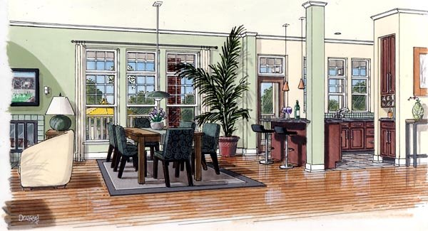 Bungalow, Coastal, Cottage, Country, Farmhouse, Traditional House Plan 30501 with 3 Beds, 3 Baths Picture 1