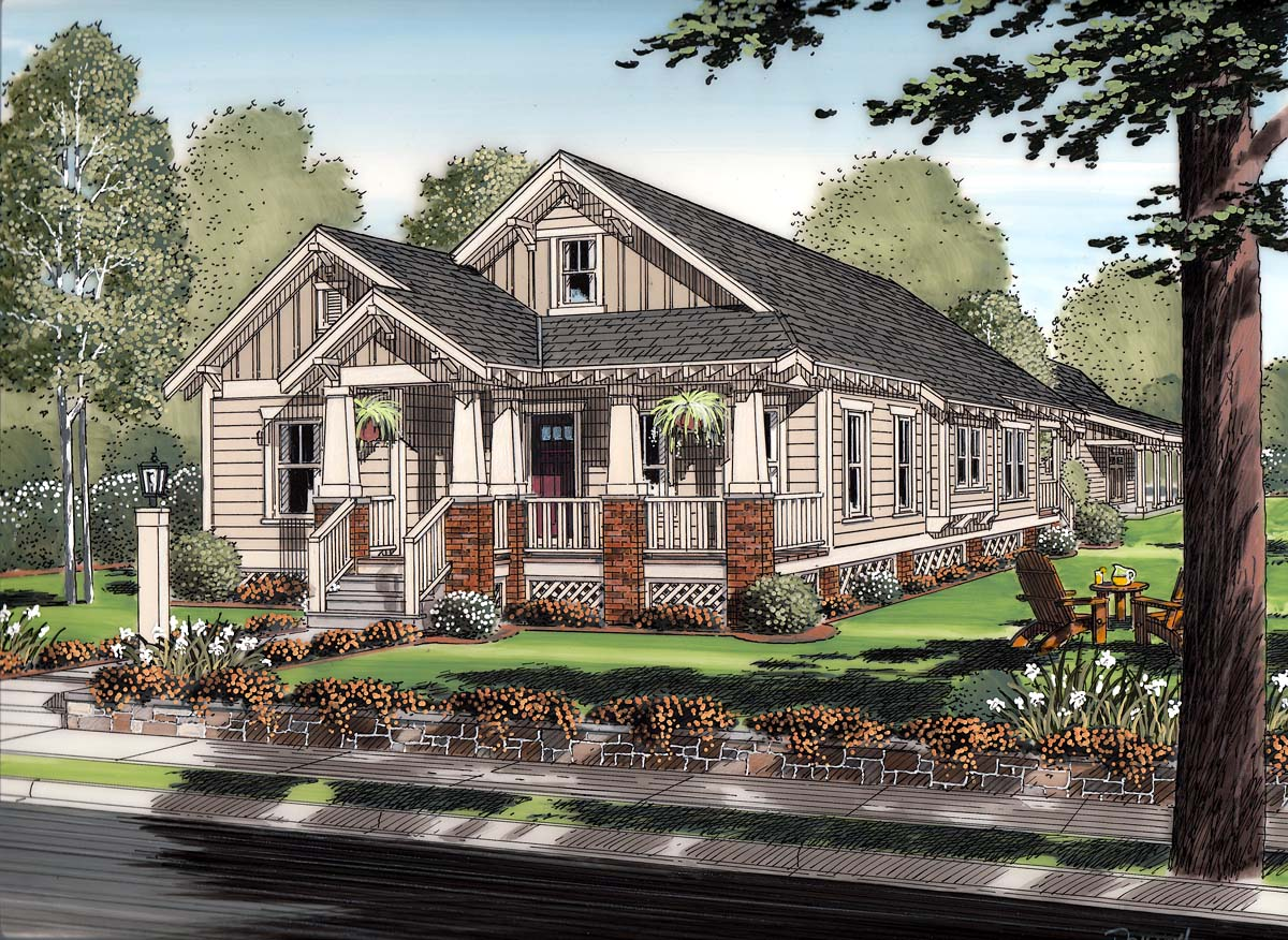 House Plan at FamilyHomePlans comClick Here to see an even larger picture  Bungalow Cottage Craftsman House Plan