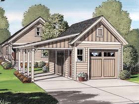 Traditional Garage Plan 30505 Elevation