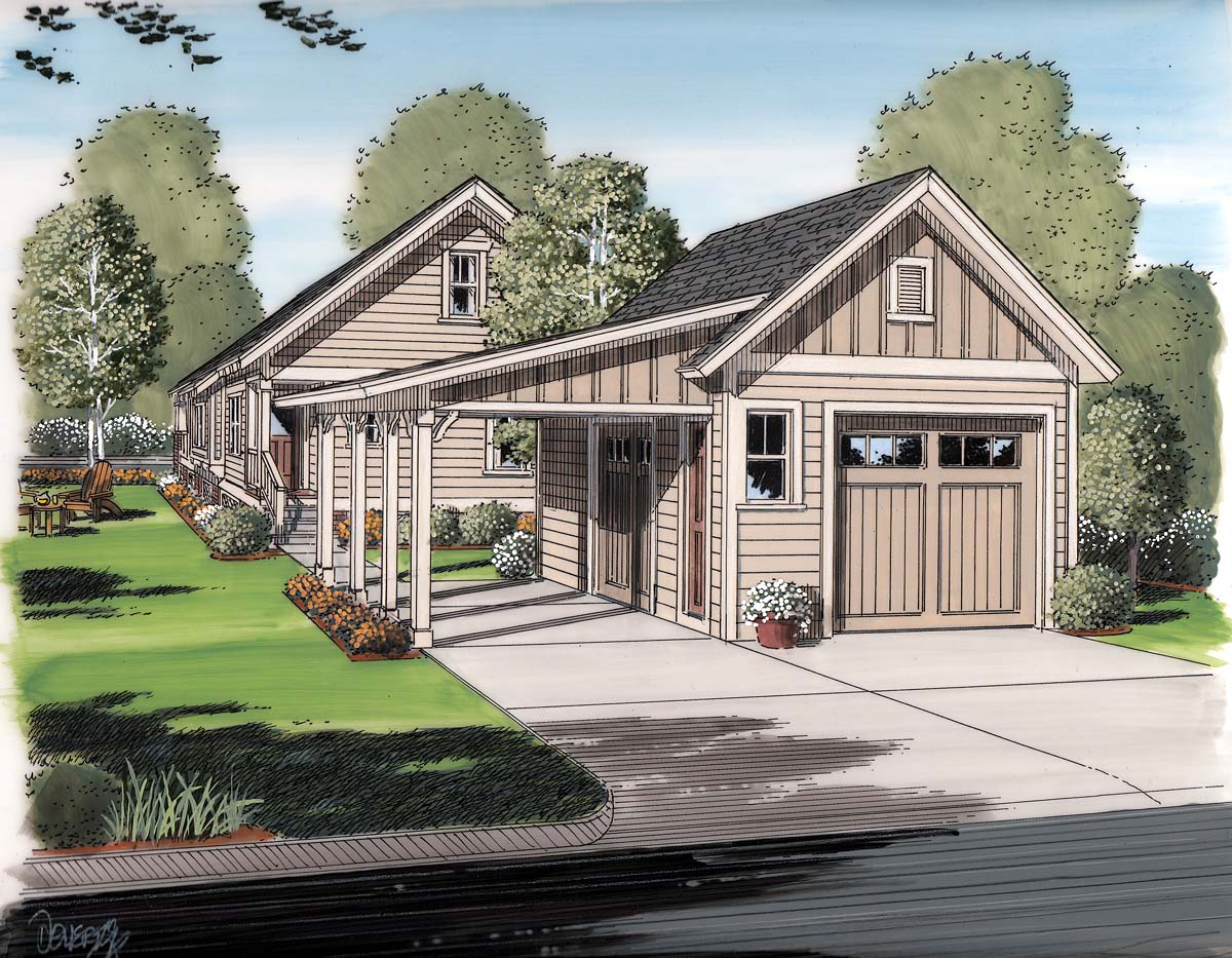 Garage plan 30505 at for House plans with detached garage