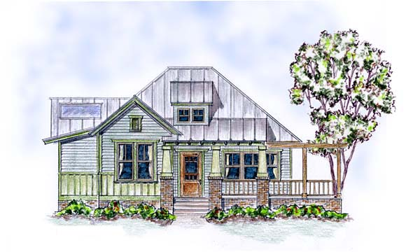 Colonial Cottage Craftsman House Plan 30506 Elevation