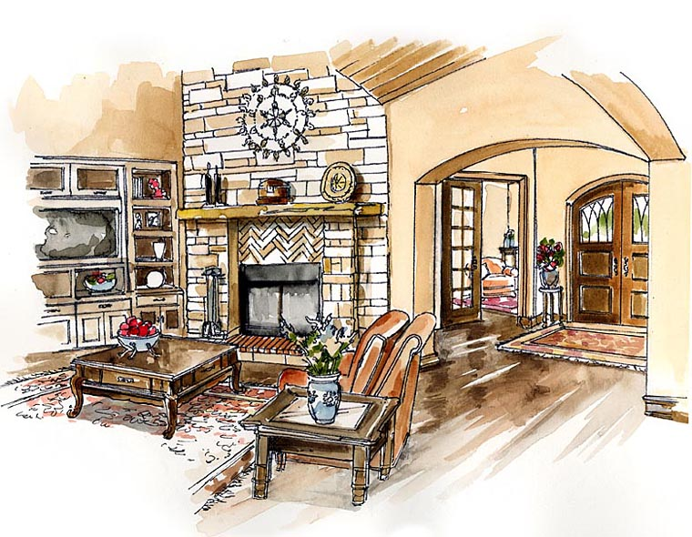 Craftsman European Farmhouse Ranch House Plan 30507
