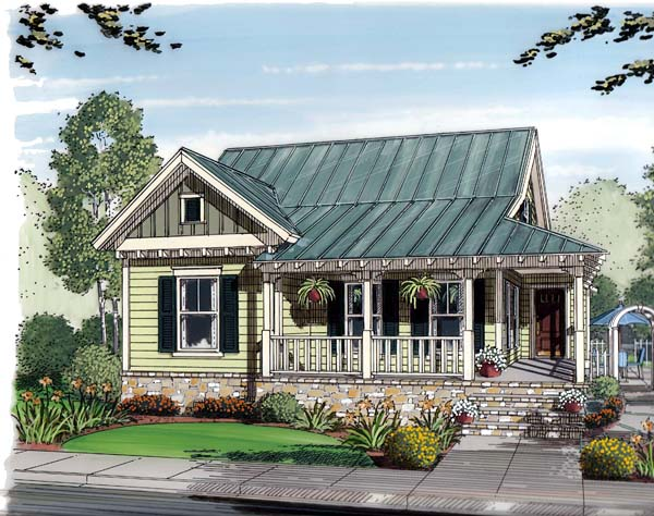 Bungalow, Cottage, Craftsman, Traditional House Plan 30508 with 3 Beds, 2 Baths Front Elevation