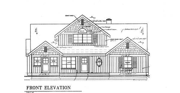 Bungalow Coastal Country House Plan 32309 Rear Elevation