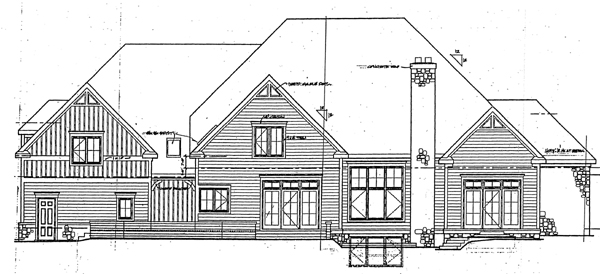 Bungalow, Country, Farmhouse House Plan 32327 with 5 Beds, 5 Baths, 3 Car Garage Rear Elevation