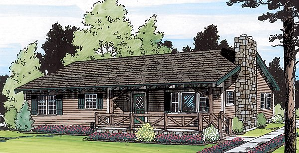 Country , Ranch , Elevation of Plan 34003