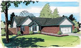Ranch Traditional House Plan 34010 Elevation