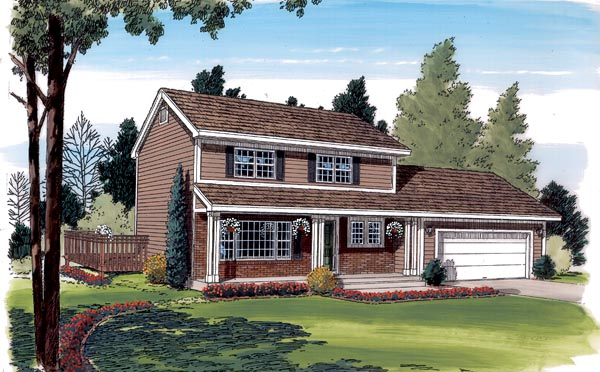 Traditional House Plan 34018 Elevation