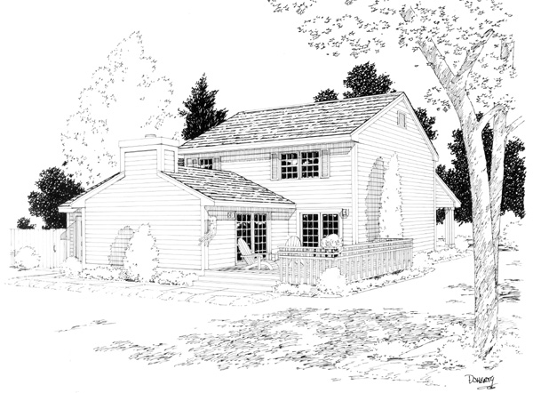 Traditional House Plan 34018 Rear Elevation