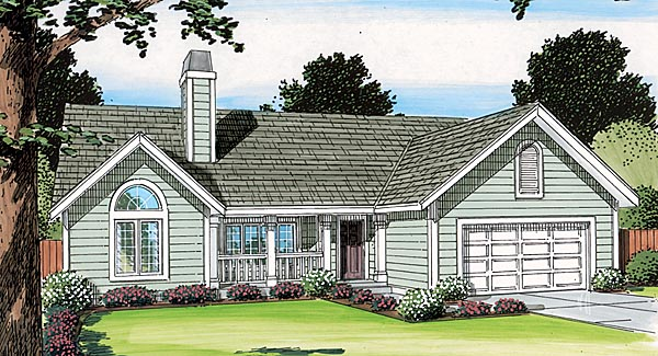 Country, One-Story, Ranch, Traditional House Plan 34031 with 3 Beds, 3 Baths, 2 Car Garage Picture 1